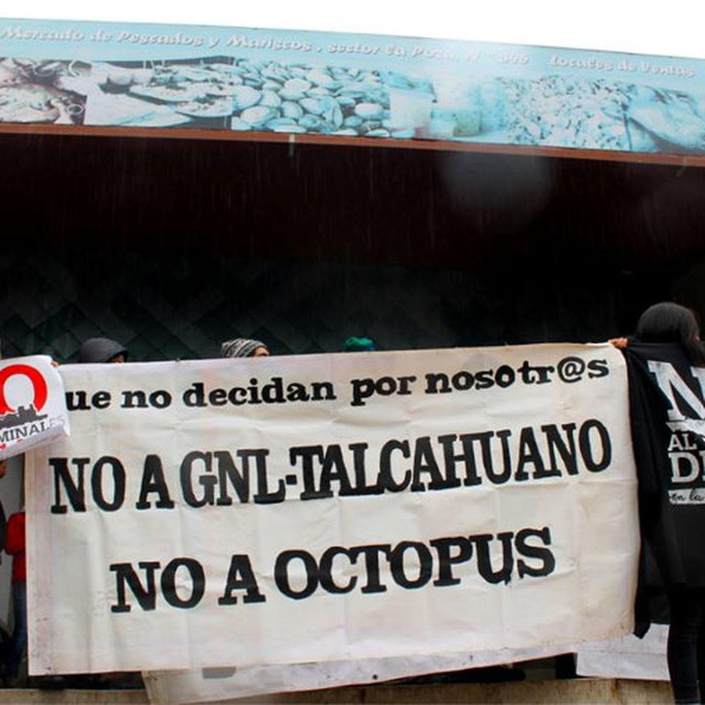 Manifestación contra GNL Penco-Lirquén (OCTOPUS) en silenciosa