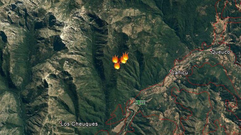 Desde el viernes se propaga incendio en bosque nativo de Alto Bío Bío: no se estaría combatiendo