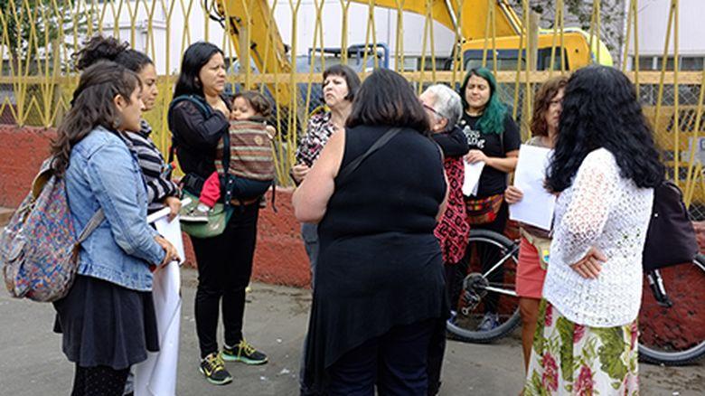 Concepción: organizaciones funan iglesia que destruyó mural de mujeres que denuncian la violencia política sexual en dictadura