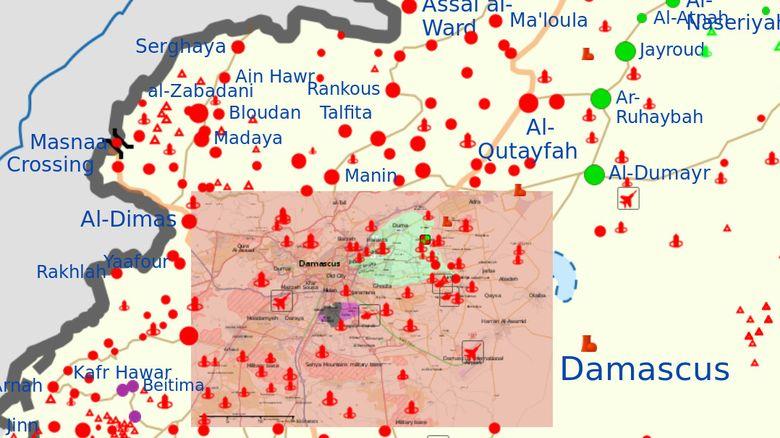 La batalla de Damasco y de la Ghouta Oriental