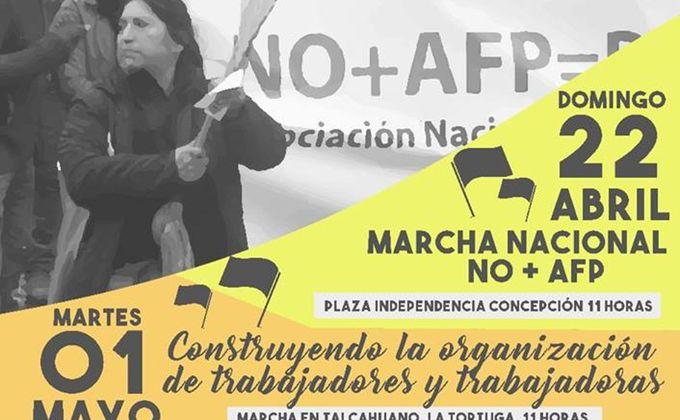 Organizaciones Sociales se suman conjuntamente a Marcha No+AFP de este domingo