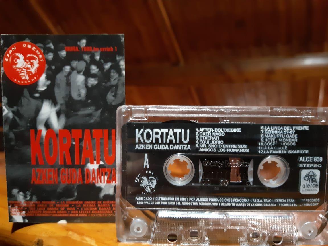Disco de Kortatu editado por el Sello Alerce en Chile a fines de la dictadura militar