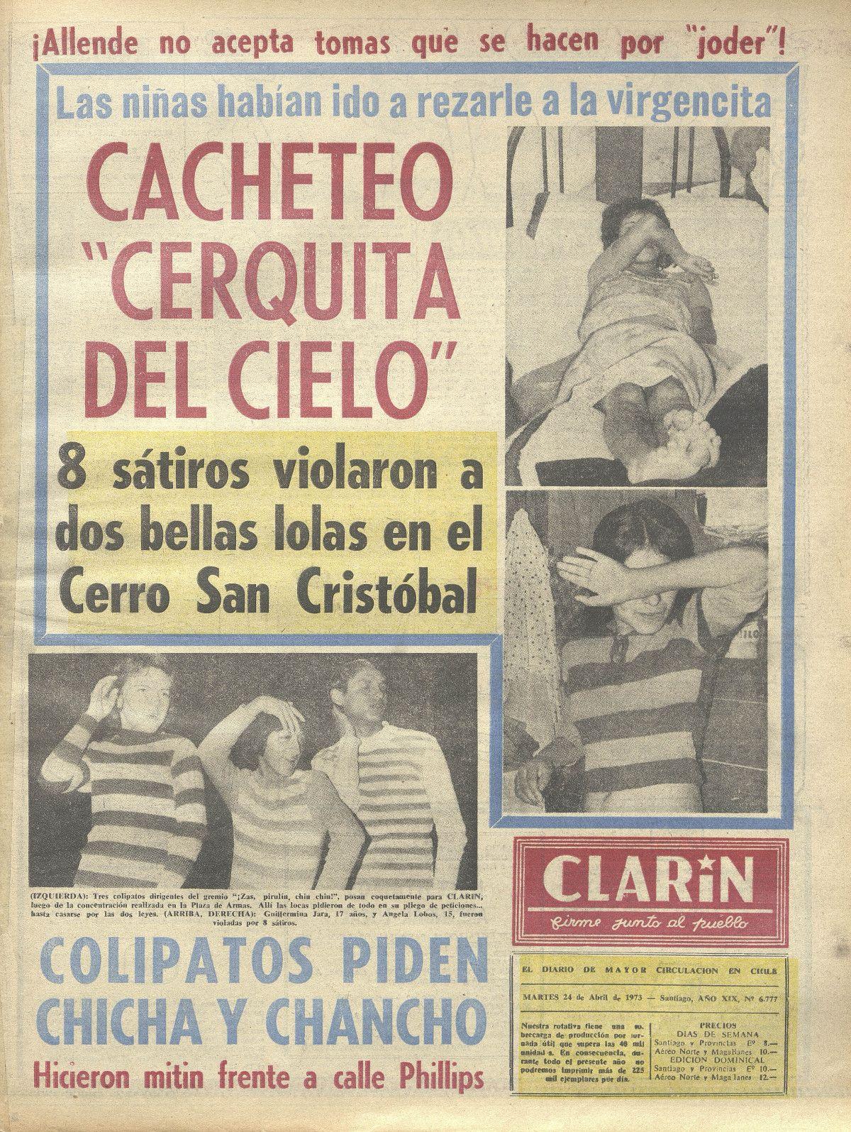 El Clarin Colipatos piden Chicha y Chancho