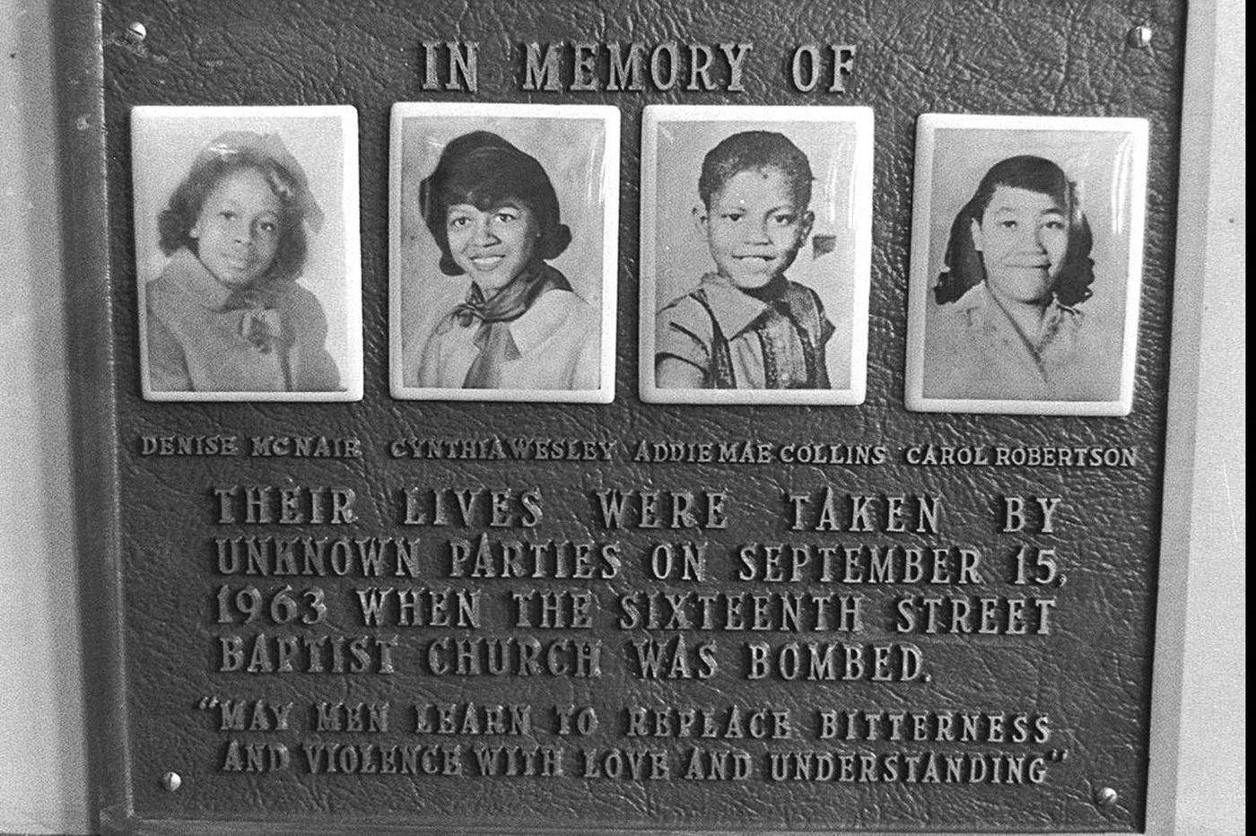 Víctimas atentado Iglesia Baptista, Alabama