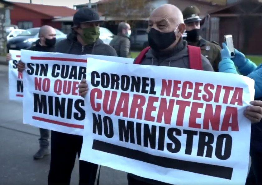 Vecinos de Coronel Cuarentena contagios Covid