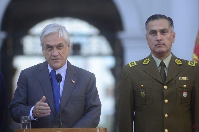 Carabineros gobierno asociación ilícita Piñera Biden