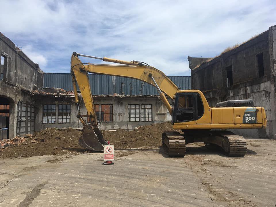 Demolición de FIAP. Extraída de Consejo comunal para el Patrimonio - Tomé