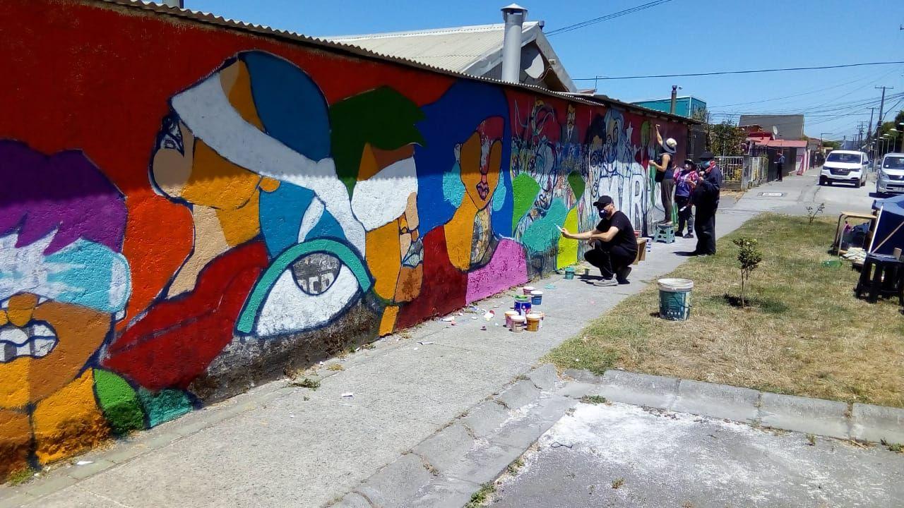 mural en honor a Luciano Aedo